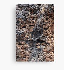 Lanzarote Volcanic Rock in Cave Canvas Print