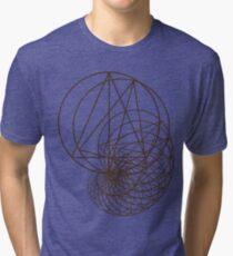 Camiseta de tejido mixto Geometría