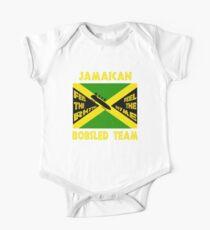 Body de manga corta para bebé Equipo de trineo jamaicano