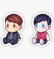 Plushie! Dan and Phil (Default) Sticker