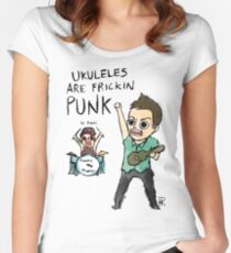 UKULELES ARE FRICKIN PUNK (OFFICIAL) Women's Fitted Scoop T-Shirt