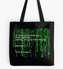 The Matrix: There is no spoon Tote Bag