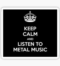 Keep calm and metal! Sticker