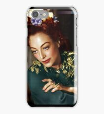 Colorized Joan Crawford 1945 Mildred Pierce iPhone Case/Skin