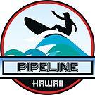 Surfing Pipeline Hawaii Oahu Surf Surfboard Waves by MyHandmadeSigns