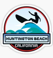 Surfing Huntington Beach California Surf Surfboard Waves Sticker