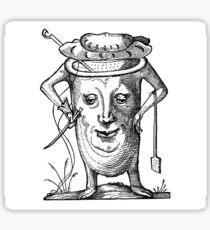 Droll Dreams of Pantagruel Plate 15 Sticker