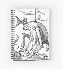 Droll Dreams of Pantagruel Plate 7 Spiral Notebook