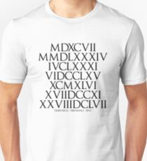 Ancient Roman Numeral in Fibonacci Sequence T-Shirt