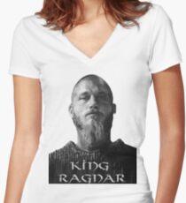 Reigning Ragnar  Women's Fitted V-Neck T-Shirt