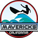 Surfing Mavericks Maverick's California Surf Surfboard Waves Half Moon Bay by MyHandmadeSigns
