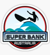 Surfing Super Bank Australia Surf Surfboard Waves Gold Coast Sticker