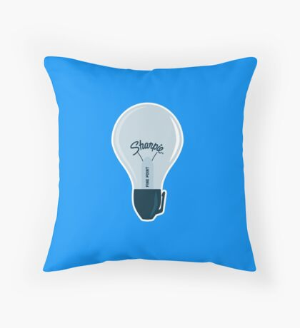 Sharpie Bulb Throw Pillow