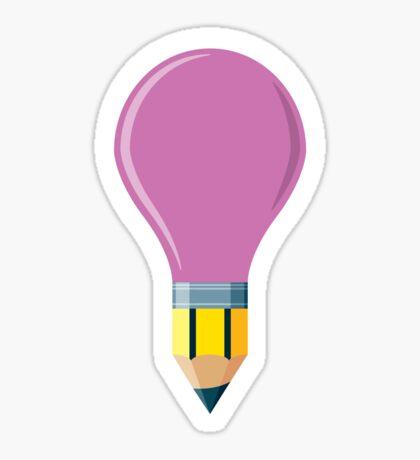 Pencil Bulb Sticker