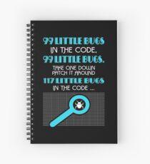 Cuaderno de espiral 99 Little Bugs In The Code
