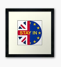BRITAIN STAY IN THE EU Framed Print