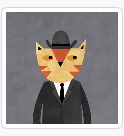 Ginger Cat in a Bowler Hat Sticker