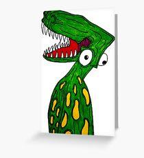 Alien Dinosaur  Greeting Card