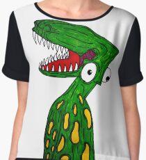 Alien Dinosaur  Chiffon Top
