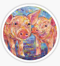 Piggles painting - 2015 Sticker