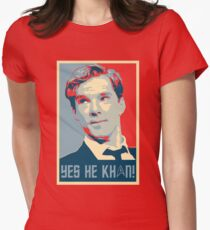 Yes he Khan.. Womens Fitted T-Shirt