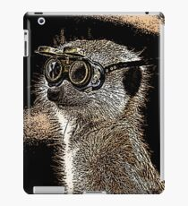Steampunk Mongoose with Goggles and Attitude iPad Case/Skin