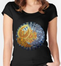 Chinese Phoenix and Dragon Mandala Women's Fitted Scoop T-Shirt