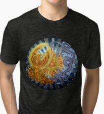Chinese Phoenix and Dragon Mandala Tri-blend T-Shirt
