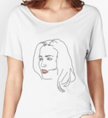Gillian Anderson Sketch Women's Relaxed Fit T-Shirt