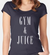 Gym and Juice T-Shirt Women's Fitted Scoop T-Shirt