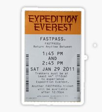 Expedition Everest Fastpass Sticker