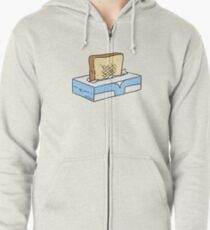 Toast in Tissue Box Zipped Hoodie