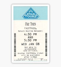 Star Tours Fastpass Sticker