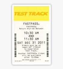 Test Track Fastpass Sticker