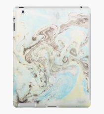 Elegant ink swirl design with blue and yellow iPad Case/Skin