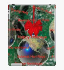 World Christmas card with greetings in many languages iPad Case/Skin