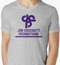Jim Crockett Promotions Logo Men's V-Neck T-Shirt
