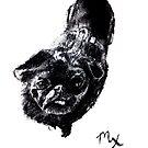 Django the Pug - in charcoal by Kari Sutyla