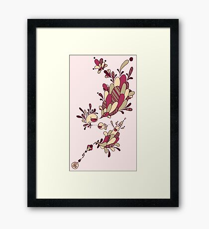 Happy Squiggles Framed Print