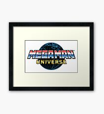 Mega Man Universe Logo Framed Print
