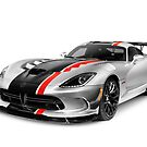 2016 Dodge Viper ACR sports car art photo print by ArtNudePhotos