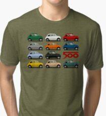 Fiat 500 side view Tri-blend T-Shirt