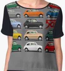 Fiat 500 side view Chiffon Top