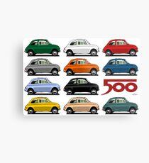 Fiat 500 side view Metal Print