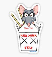 NYC TAKE OUT RAT Sticker