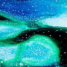 Underwater Aqua Nebula by Kari Sutyla