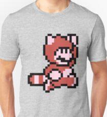 Pixel raccoon Mario T-Shirt