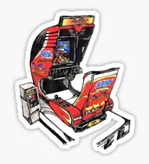 OutRun Cabinet Sticker