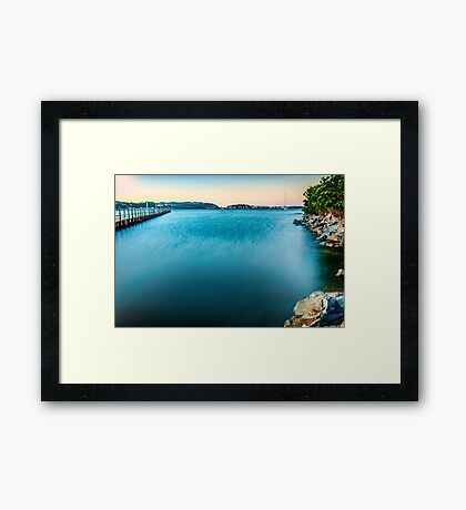 Dawn in Evans Bay, Wellington Framed Print