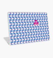 Blue & Pink Tiling Cubes Laptop Skin